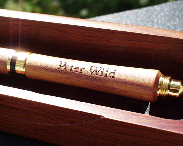 Holz Kugelschreiber, gelasert