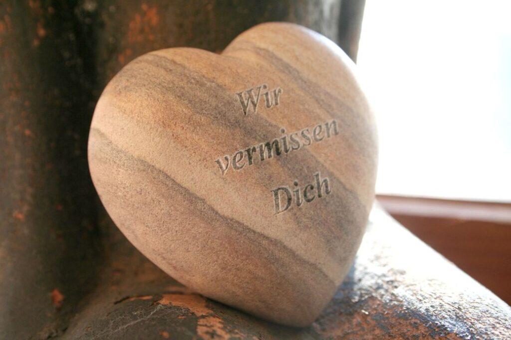 Herz aus Sandstein