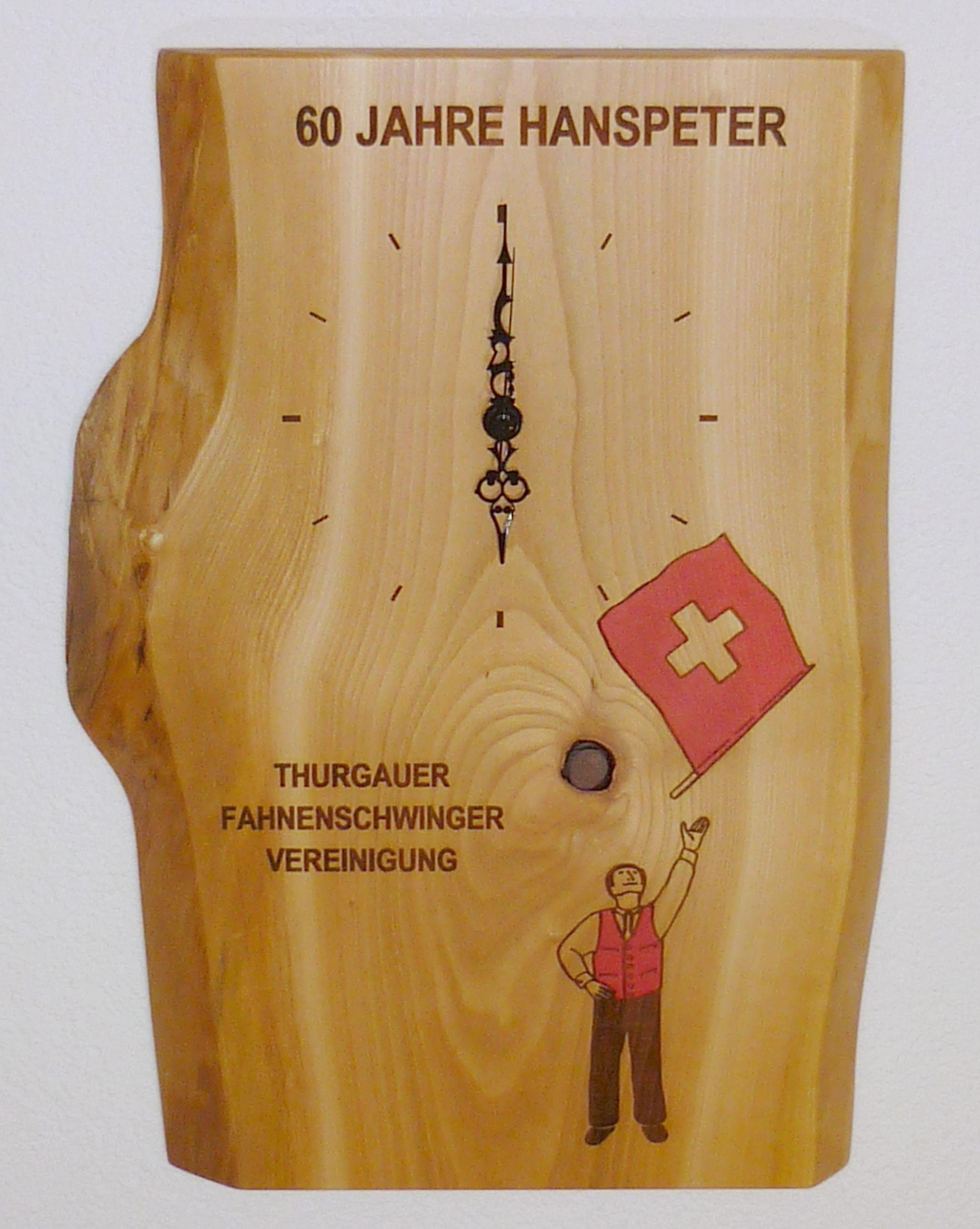 "Naturholzbrett ""Uhr"""
