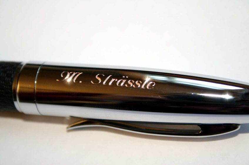 Kugelschreiber Namensgravur