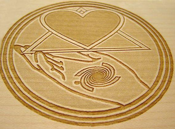 Holz Signet, Laser Holzgravur